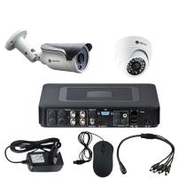 Комплект видеонаблюдения для дачи на 2 камеры - AHD 1Мп 720P (1 камера помещение/1 камера улица)