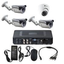 Комплект видеонаблюдения для склада на 4 камеры - AHD 1Мп 720P (1 камера помещение/3 камеры улица)