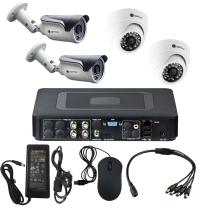 Комплект видеонаблюдения для склада на 4 камеры - AHD 1Мп 720P (2 камеры помещение/2 камеры улица)