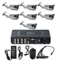 Комплект видеонаблюдения для дома на 7 уличных камер - AHD 1Мп 720P