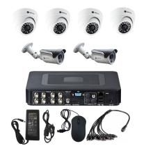 Комплект видеонаблюдения для дома на 6 камер - AHD 1Мп 720P (4 камеры помещение/2 камеры улица)