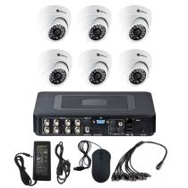 Комплект видеонаблюдения для магазина на 6 камер для помещения - AHD 1Мп 720P
