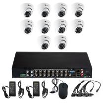 Комплект видеонаблюдения для магазина на 10 камер для помещения - AHD 5Мп 1952P