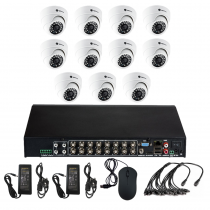 Комплект видеонаблюдения для офиса на 11 камер для помещения - AHD 2.1Мп 1080P