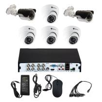 Комплект видеонаблюдения для дома на 6 камер - AHD 5Мп 1952P (4 камеры помещение/2 камеры улица)