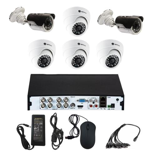 Комплект видеонаблюдения для склада на 6 камер - AHD 5Мп 1952P (4 камеры помещение/2 камеры улица)