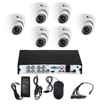 Комплект видеонаблюдения для дома на 6 камер для помещения - AHD 2.1Мп 1080P