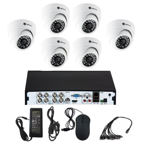 Комплект видеонаблюдения для склада на 6 камер для помещения - AHD 5Мп 1952P