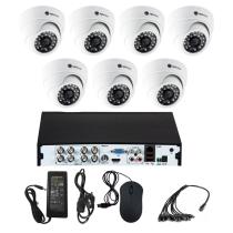 Комплект видеонаблюдения для магазина на 7 камер для помещения - AHD 5Мп 1952P