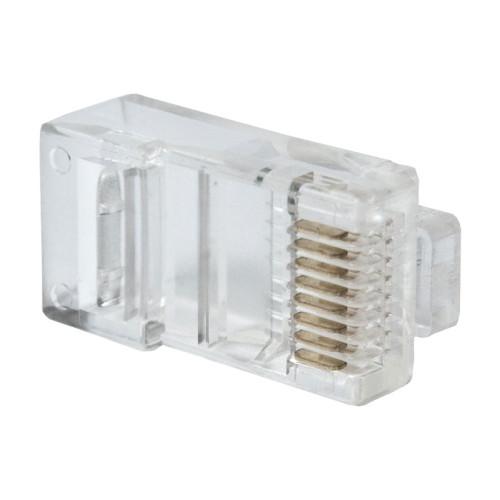 Коннектор RJ-45 для IP камер видеонаблюдения Optimus (Cat-5e, 8P8C) (20 шт)