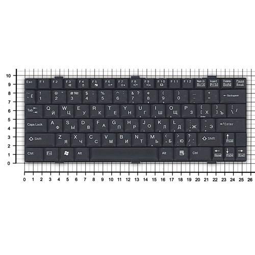 Клавиатура для ноутбука Fujitsu LifeBook P7010 черная