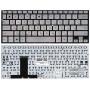 Клавиатура для ноутбука Asus UX31E серебристая