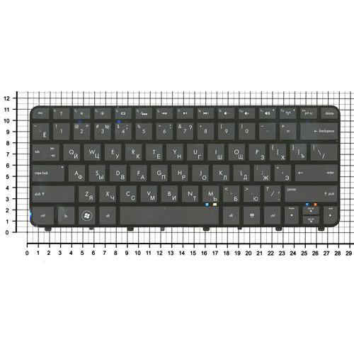 Клавиатура для ноутбука HP FOLIO 13-1000 13-2000 черная