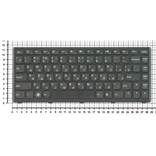 Клавиатура для ноутбука Lenovo S300 S400 S405 черная