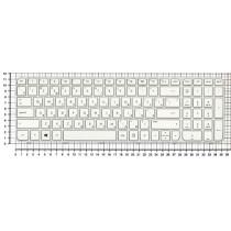 Клавиатура для ноутбука HP G6-2000 белая с белой рамкой