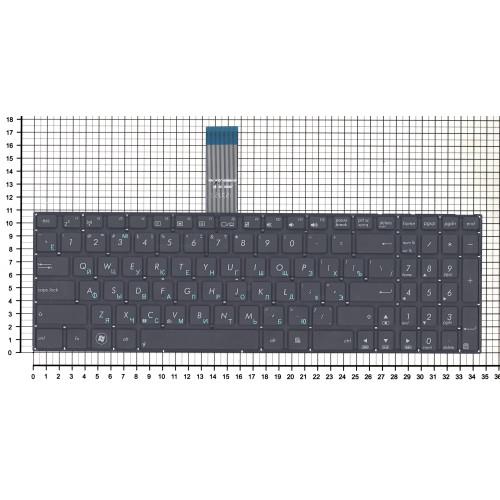 Клавиатура для ноутбука ASUS X550 X501A X501U черная плоский Enter