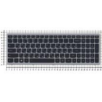 Клавиатура для ноутбука Lenovo Flex 15 черная с серебристой рамкой, с подсветкой