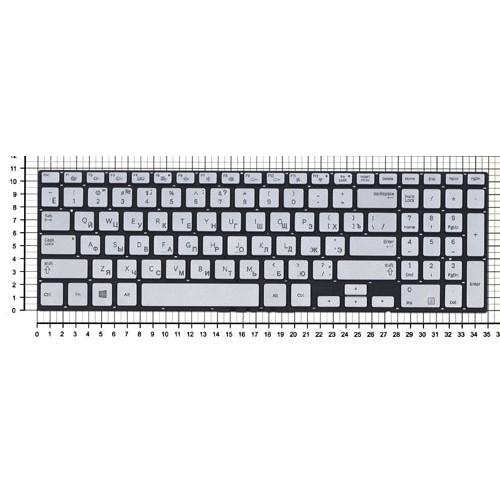 Клавиатура для ноутбука Samsung NP770Z5E NP880Z5E серебристая с подсветкой без рамки