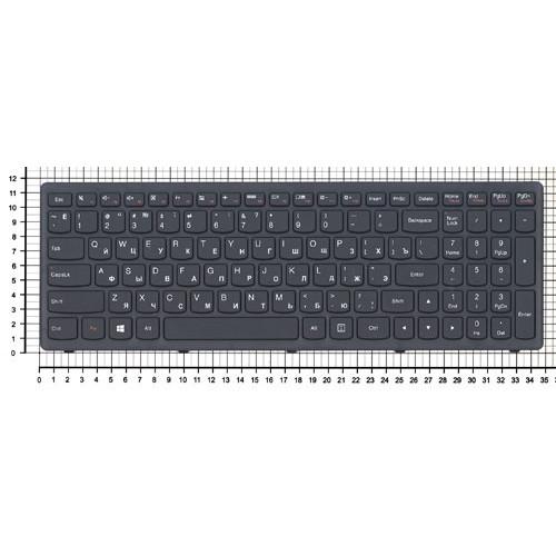 Клавиатура для ноутбука Lenovo S500 S500C черная с рамкой