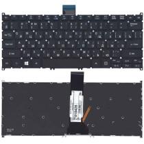 Клавиатура для ноутбука Acer V5-122P черная с подсветкой