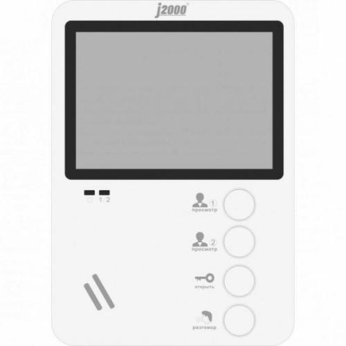 Видеодомофон J2000-DF-ЕКАТЕРИНА (белый) XL