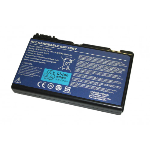Аккумулятор для Acer TravelMate TM00741 7520 (GRAPE32) 11.1V 5200mAh REPLACEMENT черная