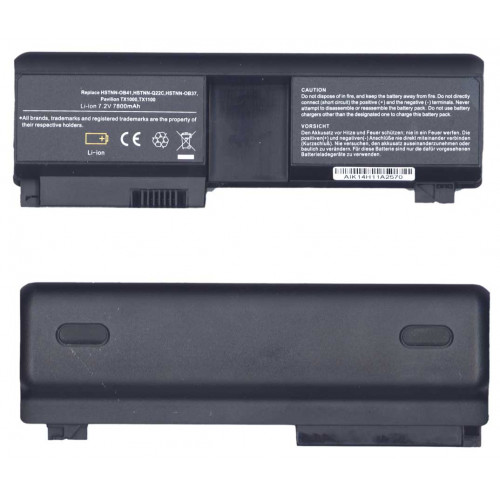 Аккумулятор для HP Compaq TX1000 (HSTNN-OB41) 7800mAh REPLACEMENT черная