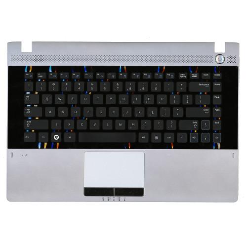 Клавиатура для ноутбука Samsung RC410 топ-панель серая