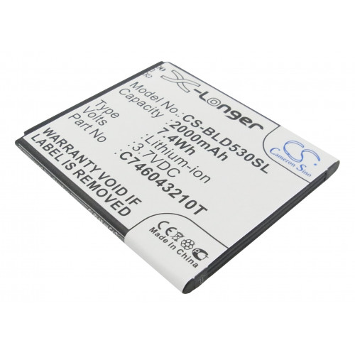 Аккумулятор CS-BLD530SL для Explay Fresh  3.7V / 2000mAh / 7.40Wh