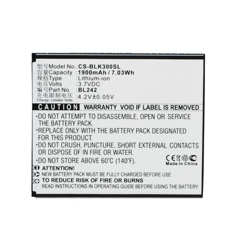 Аккумулятор CS-BLK300SL BL242 для Lenovo A6010 Lenovo K3 3.7V / 1900mAh / 7.03Wh