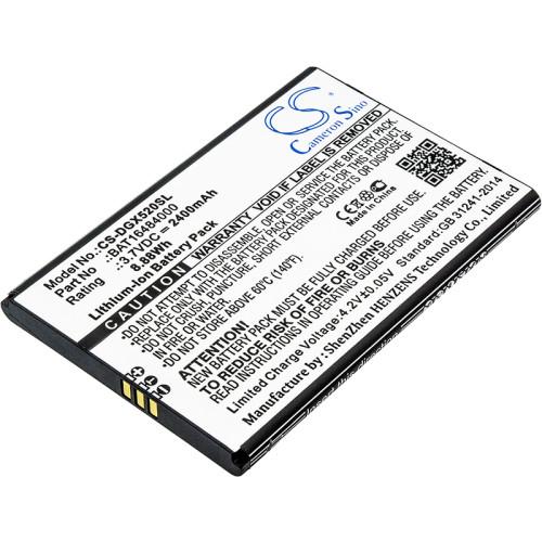 Аккумулятор CS-DGX520SL BAT16484000 для DOOGEE X5 Max X5 MAX Pro 3.7V / 2400mAh / 8.88Wh