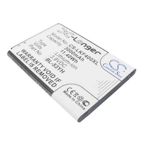 Аккумулятор CS-LKF400XL BL-53YH для LG G3 Stylus D690 3.8V / 3000mAh / 11.40Wh