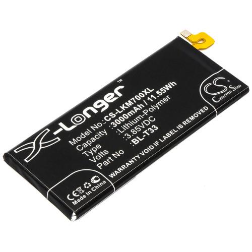 Аккумулятор CS-LKM700XL BL-T33 для LG M700A, Q6  3.85V / 3000mAh / 11.55Wh