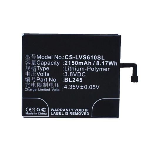Аккумулятор CS-LVS610SL BL245 для Lenovo S60 3.8V / 2150mAh / 8.17Wh