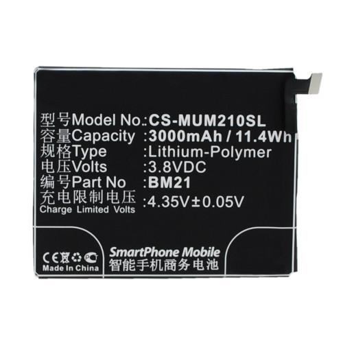 Аккумулятор CS-MUM210SL BM21 для Xiaomi Mi Note 3.8V / 3000mAh / 11.40Wh