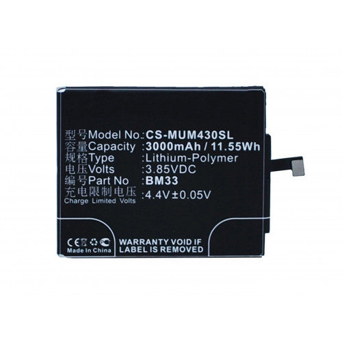 Аккумулятор CS-MUM430SL BM33 для Xiaomi Mi4i 3.85V / 3000mAh / 11.55Wh