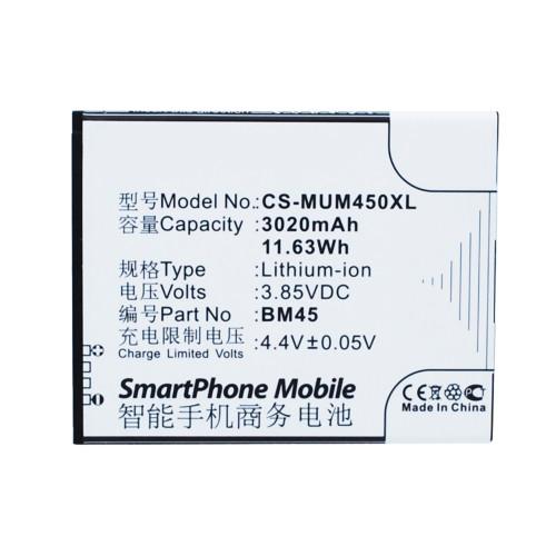Аккумулятор CS-MUM450XL (BM45) для Xiaomi Redmi NOTE 2 3.85V / 3020mAh / 11.63Wh