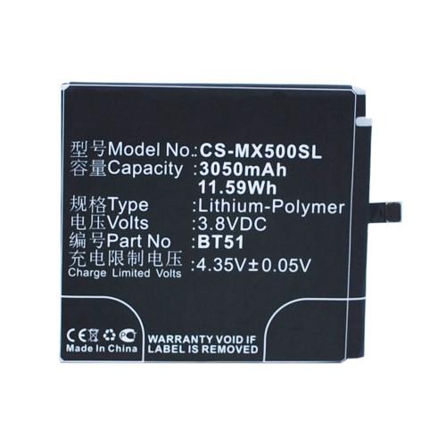 Аккумулятор CS-MX500SL BT51 для Meizu MX5 3.8V / 3050mAh / 11.59Wh