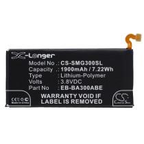 Аккумулятор CS-SMG300SL EB-BA300ABE для Samsung Galaxy A3 SM-A300F, SM-A300F/DS Duos  3.8V / 1900mAh
