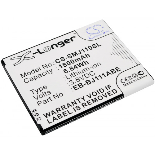 Аккумулятор CS-SMJ110SL EB-BJ111ABE для Samsung Galaxy J1 Ace, J1 Ace Neo 3.8V / 1800mAh / 6.84Wh