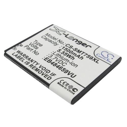 Аккумулятор CS-SMT759XL EB484659VA для Samsung GT-i8150/i8350/S5690/S5820  3.7V / 1500mAh / 5.55Wh