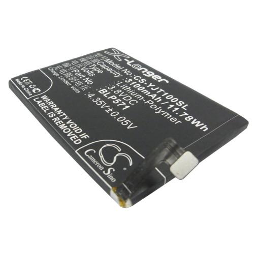 Аккумулятор CS-YJT100SL BLP571 для OnePlus One 3.8V / 3100mAh / 11.78Wh