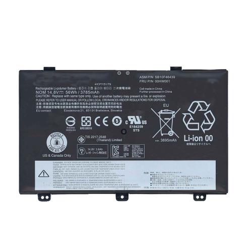 Аккумулятор для Lenovo Yoga S5, Yoga S3 (00HW001) 14.8V 56Wh черная