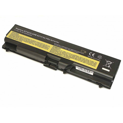 Аккумулятор для Lenovo ThinkPad T410 (42T4235) 10.8V 5200 mAh REPLACEMENT черная