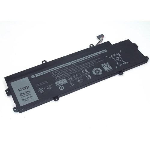 Аккумулятор для Dell Chromebook 11 3120 (5R9DD) 11.1V 43Wh