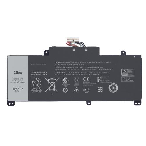 Аккумуляторная батарея 74XCR для планшета Dell Venue 8 Pro (5830) 3,7V 18Wh черная