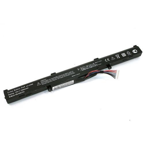 Аккумулятор для Asus X450J (A41-X550E) 15V 44Wh REPLACEMENT черная