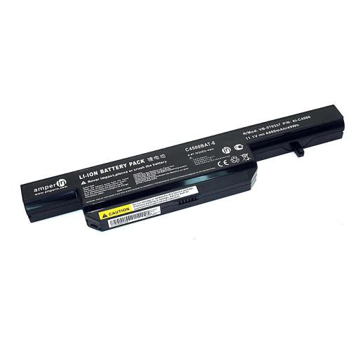 Аккумуляторная батарея Amperin для ноутбука DNS Clevo C4500 (C4500BAT6) 11,1V 5200mAh AI-C4500