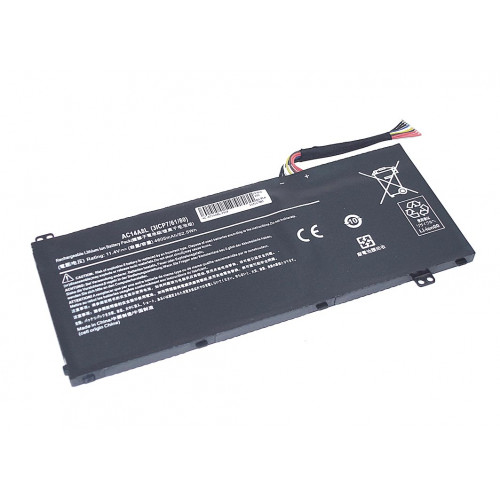 Аккумулятор для Acer Aspire VN7 (AC14A8L-3S1P) 11.4V 4605mAh REPLACEMENT черная