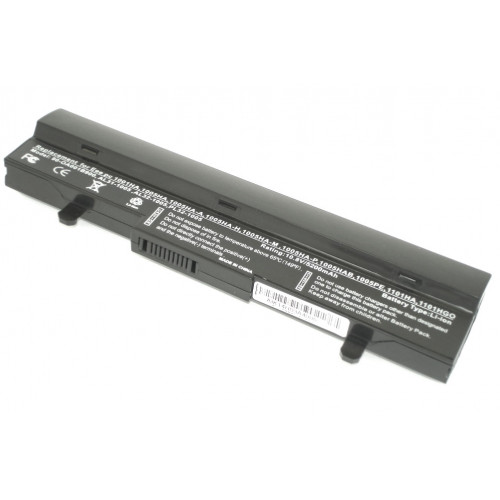 Аккумулятор для Asus Eee PC 1001 1005 5200mAh REPLACEMENT черная